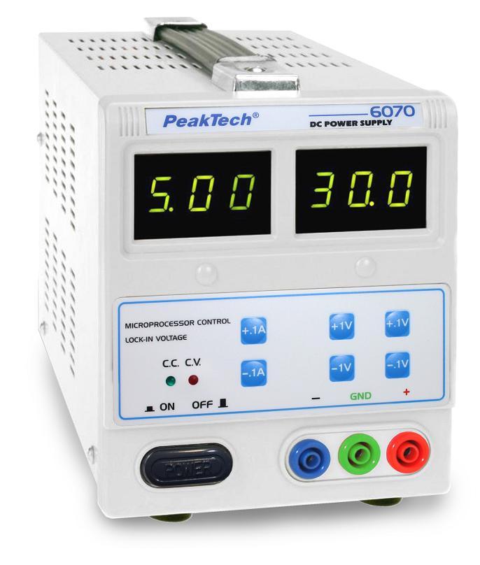 PeakTech P 6070 Regulated Laboratory Power Supply