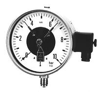 Pressure gauges with contact