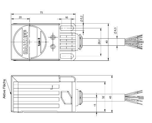 SAGATRON-SHOP - BALLUFF BIC 2I3-P2A20-Q40AA-GPX0B-050 on