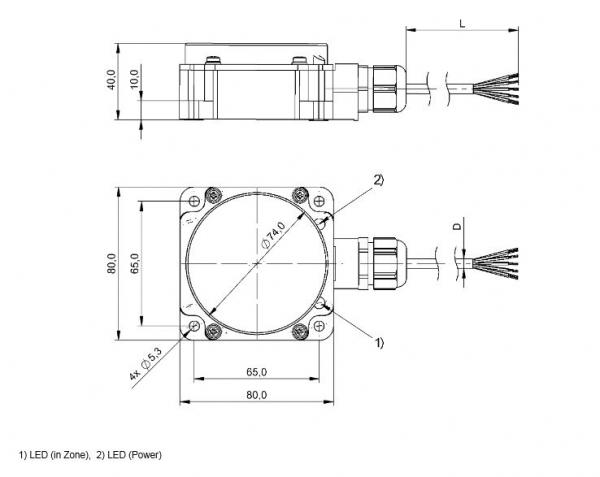 SAGATRON-SHOP - BALLUFF BIC 1I3-P2A05-Q80KA-GPX0C-050 on